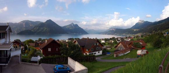Blick auf den Vierwaldstätter See von unserem Hotel aus