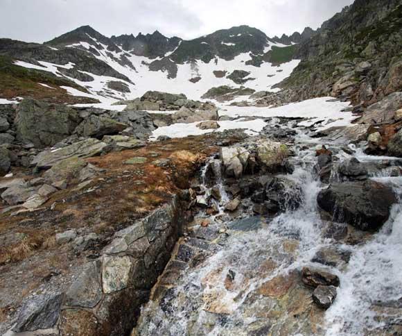 Schneefeld am Sustenpass