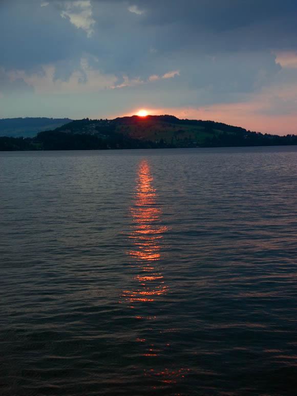 Schöne Lichtstimmung bei Sonnenuntergang